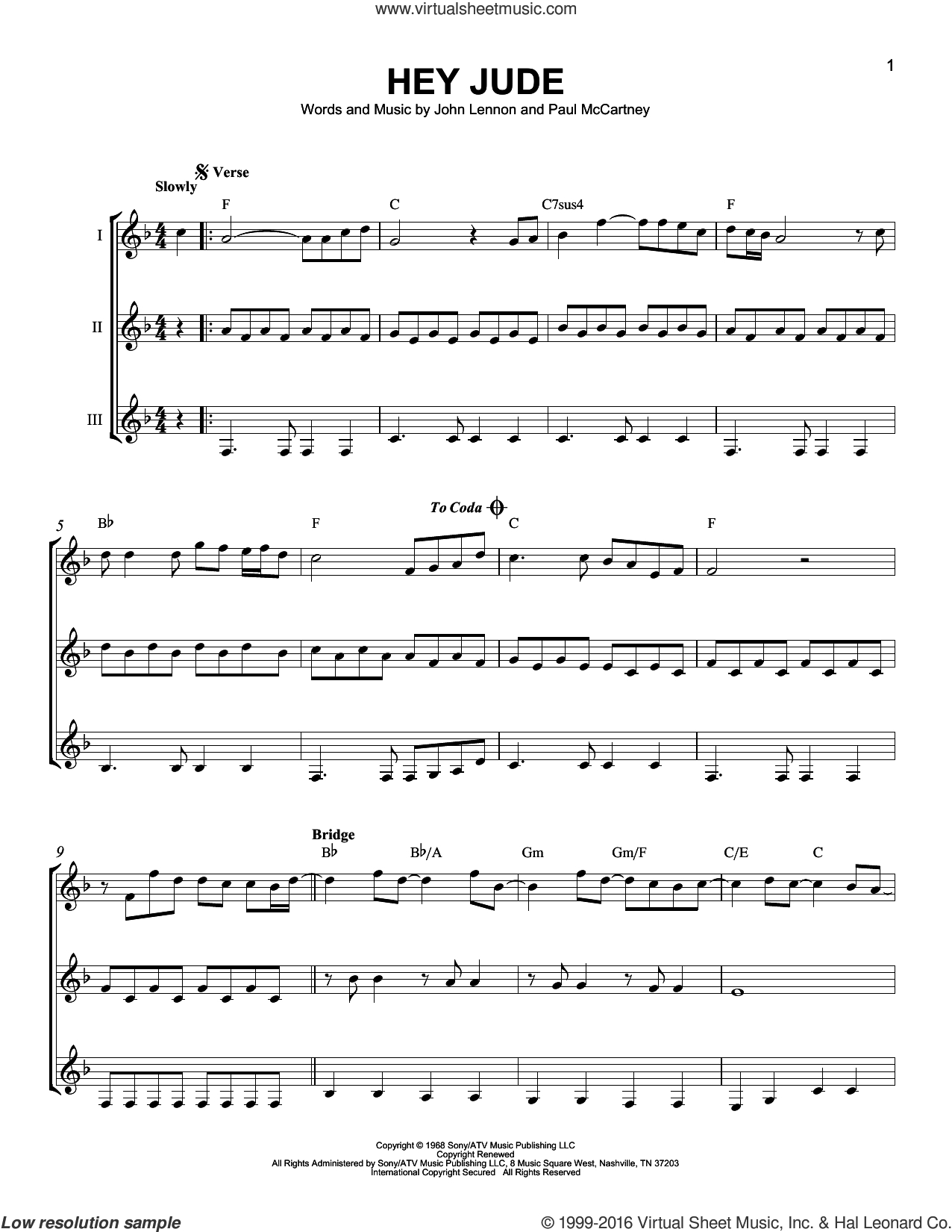 Hey Jude Chords Beatles Hey Jude Sheet Music For Guitar Ensemble Pdf