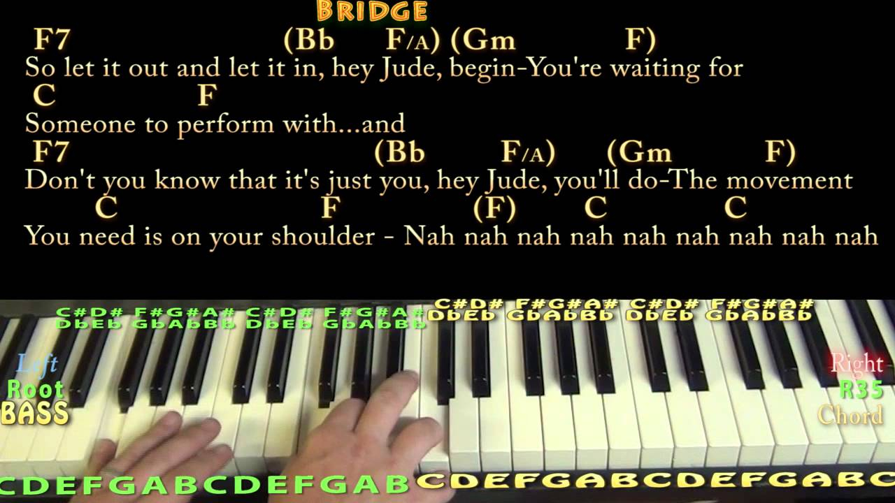 Hey Jude Chords Hey Jude The Beatles Piano Cover Lesson With Chordslyrics