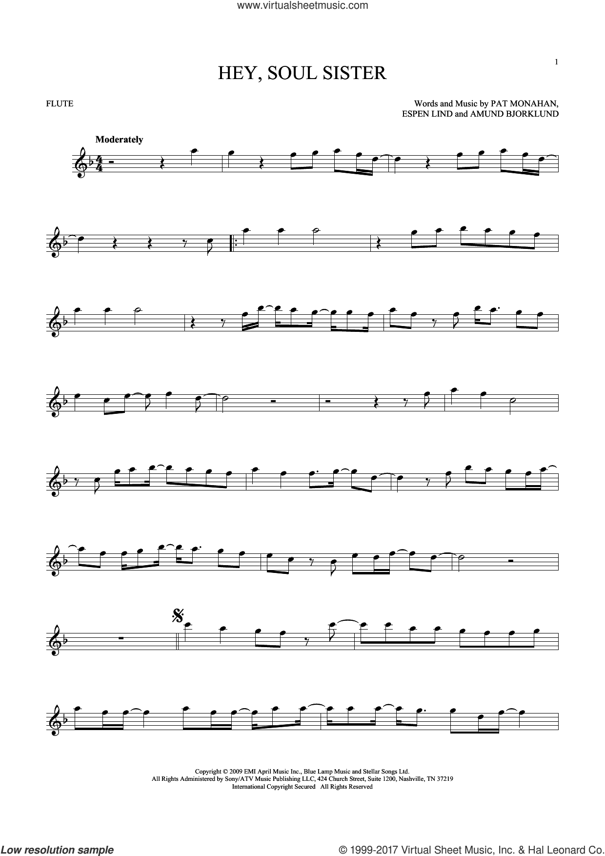 Hey Soul Sister Chords Train Hey Soul Sister Sheet Music For Flute Solo Pdf