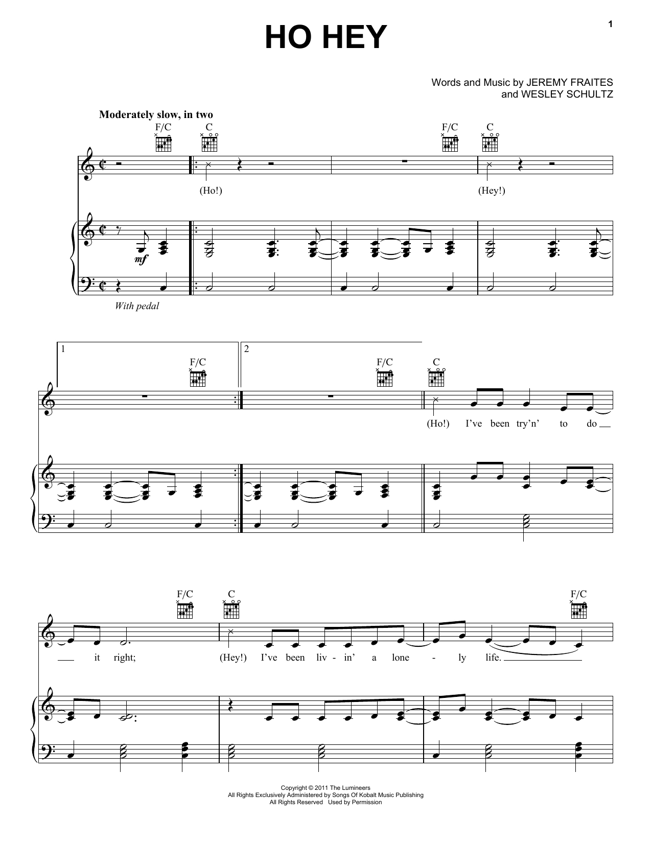 Ho Hey Chords The Lumineers Ho Hey Sheet Music Notes Chords Download Printable Easy Guitar Tab Sku 95578