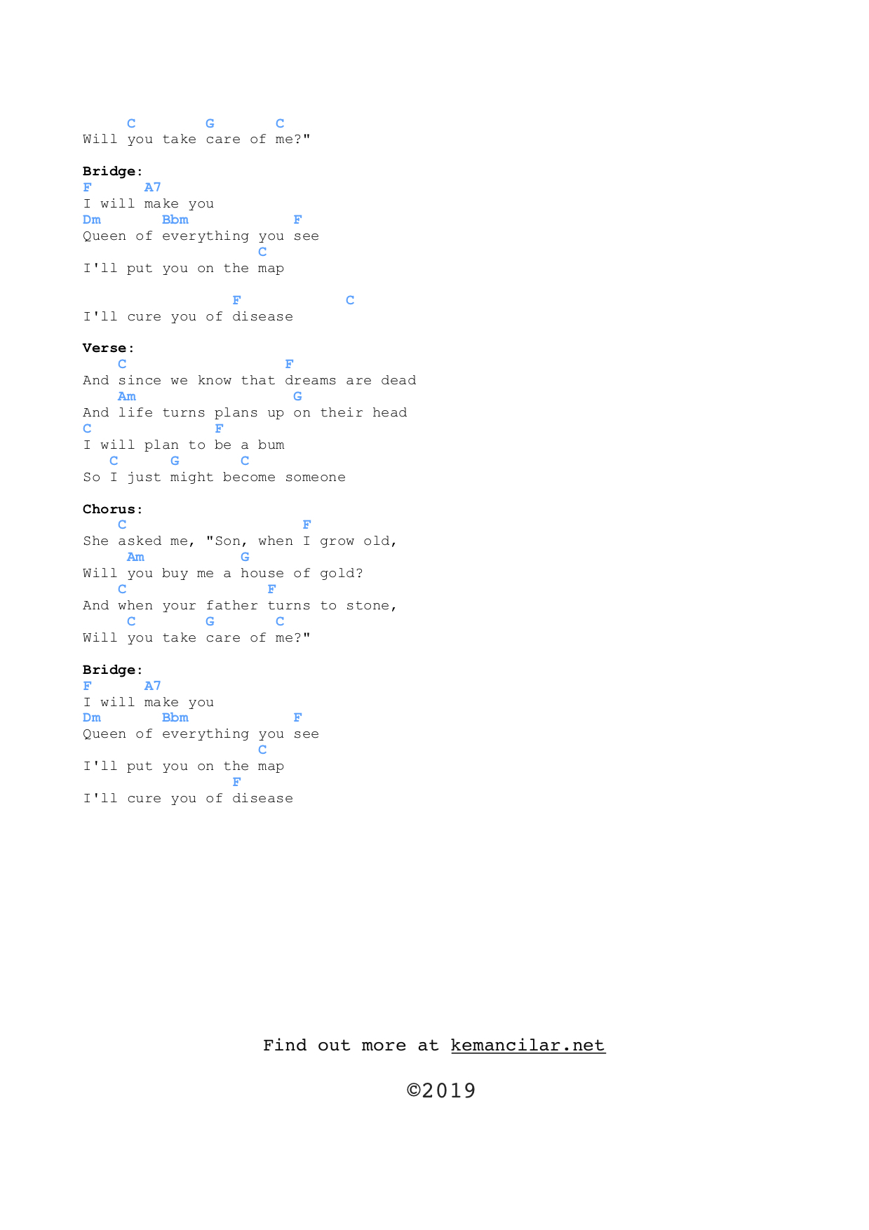 House Of Gold Chords House Of Gold Ukulele Chords Free Sheet Music
