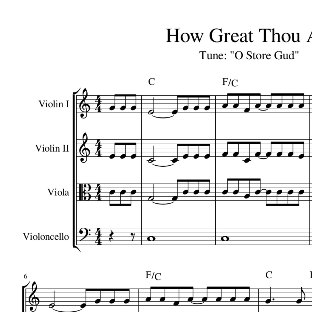 How Great Thou Art Chords How Great Thou Art Celtic Harmony Arrangement Sheet Music With