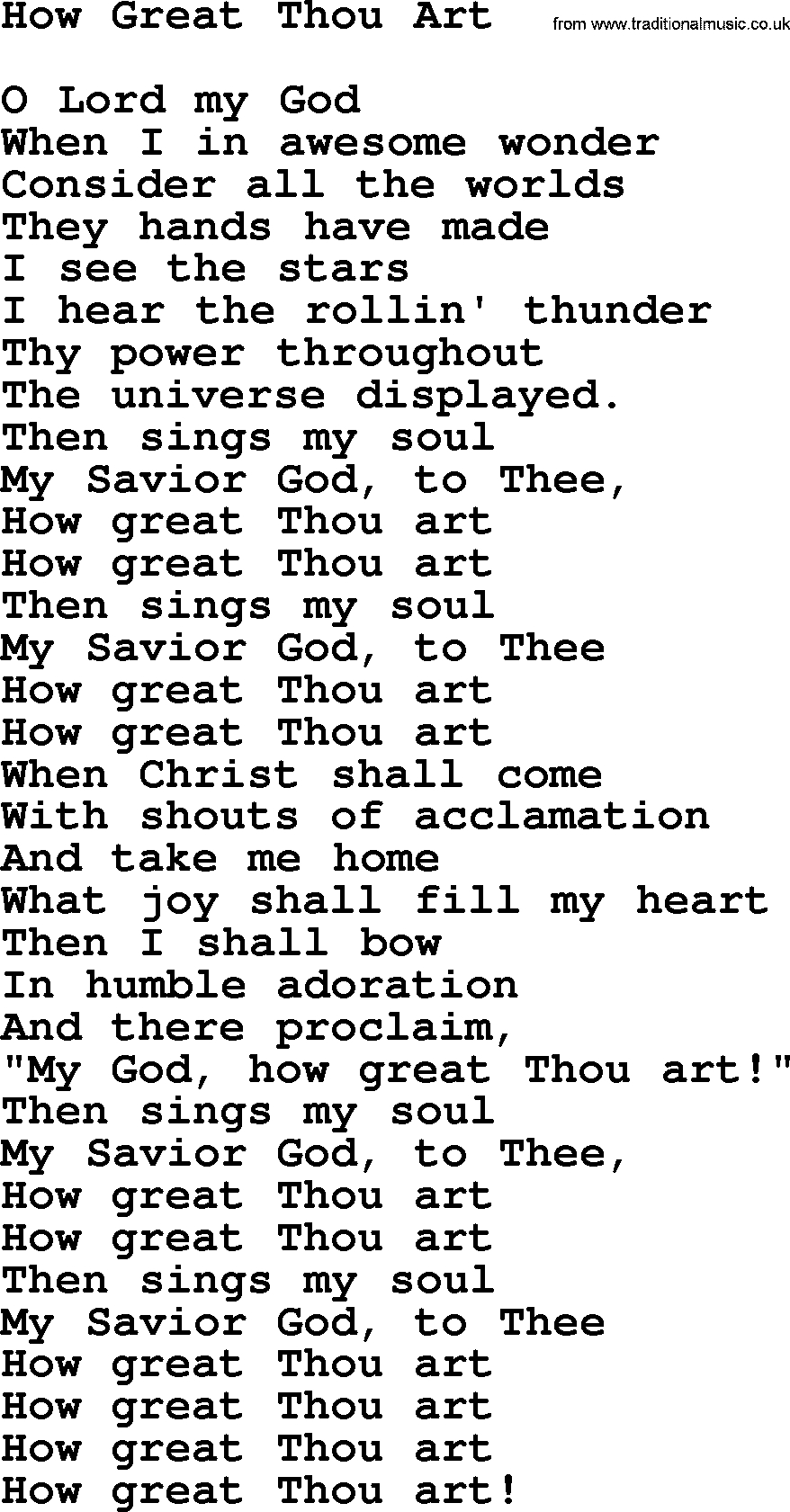 How Great Thou Art Chords Willie Nelson Song How Great Thou Art Lyrics