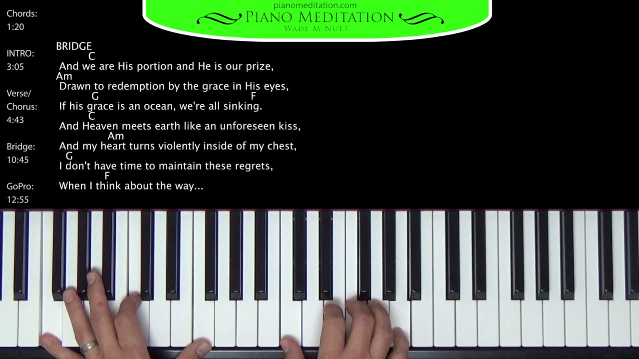 How He Loves Chords How He Loves Crowdermcmillan How To Play On The Piano