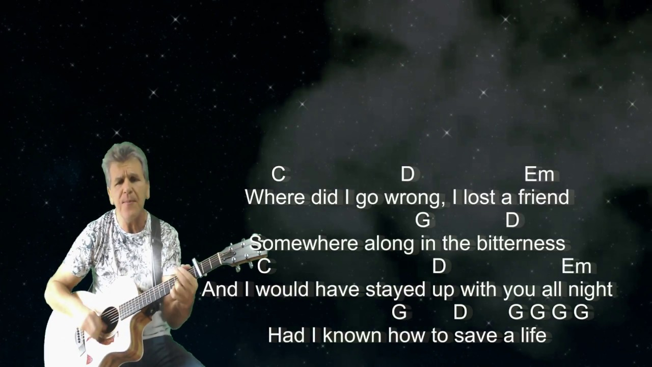 How To Save A Life Chords How To Save A Life The Fray Cover With Guitar Chords And Lyrics