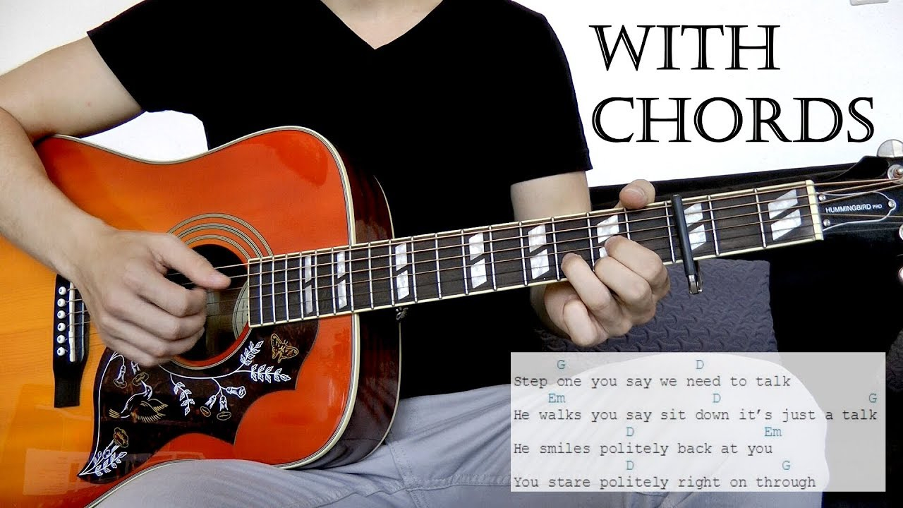 How To Save A Life Chords The Fray How To Save A Life Acoustic Cover Wchords On Screen
