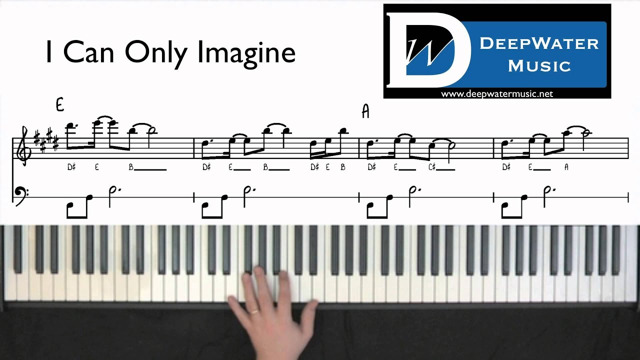 I Can Only Imagine Chords Piano Tutorial I Can Only Imagine Intro