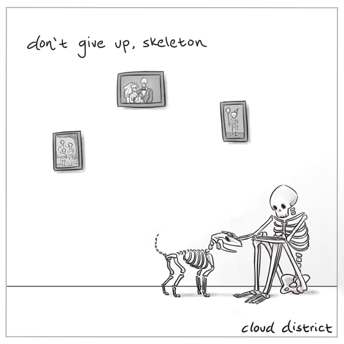 I Won T Give Up Chords Dont Give Up Skeleton Cloud District