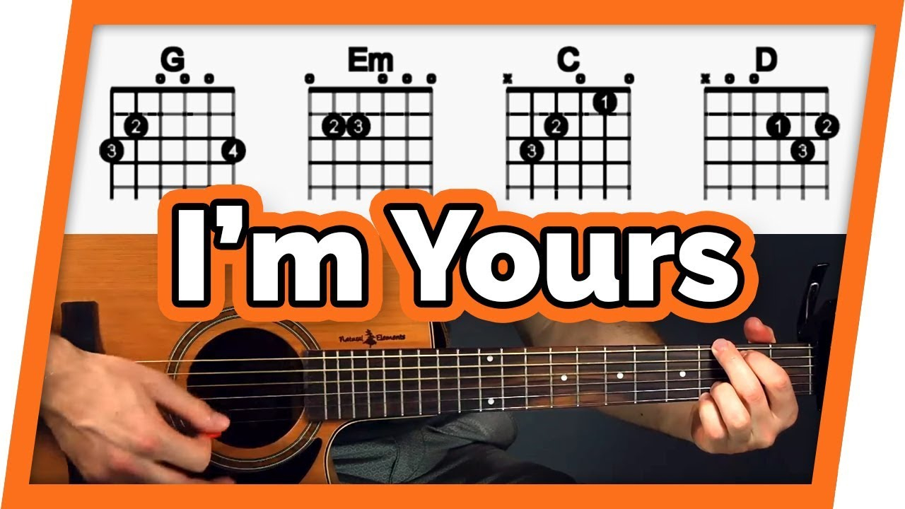 Im Yours Chords Im Yours Guitar Tutorial Jason Mraz Easy Chords Guitar Lesson