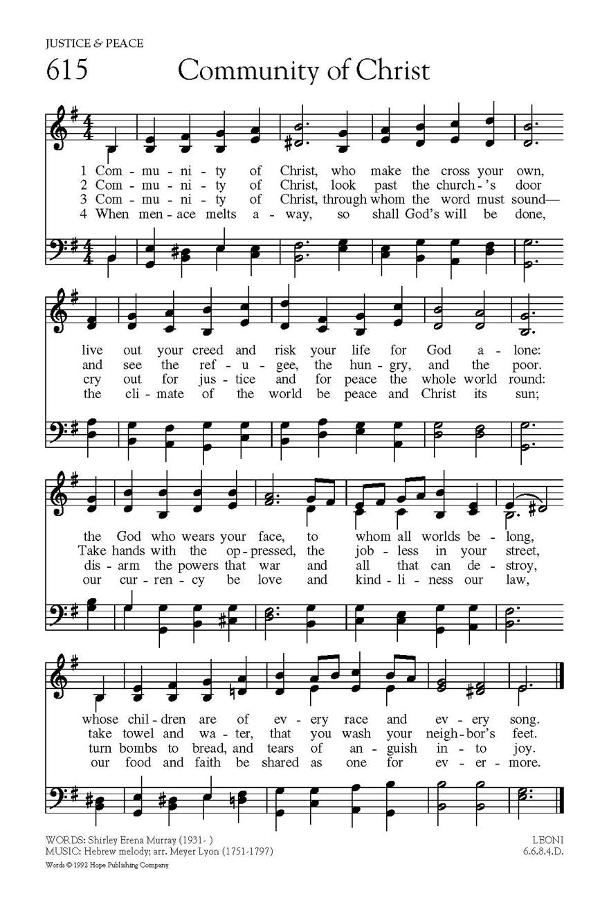 In Christ Alone Chords Community Of Christ Hope Publishing Company