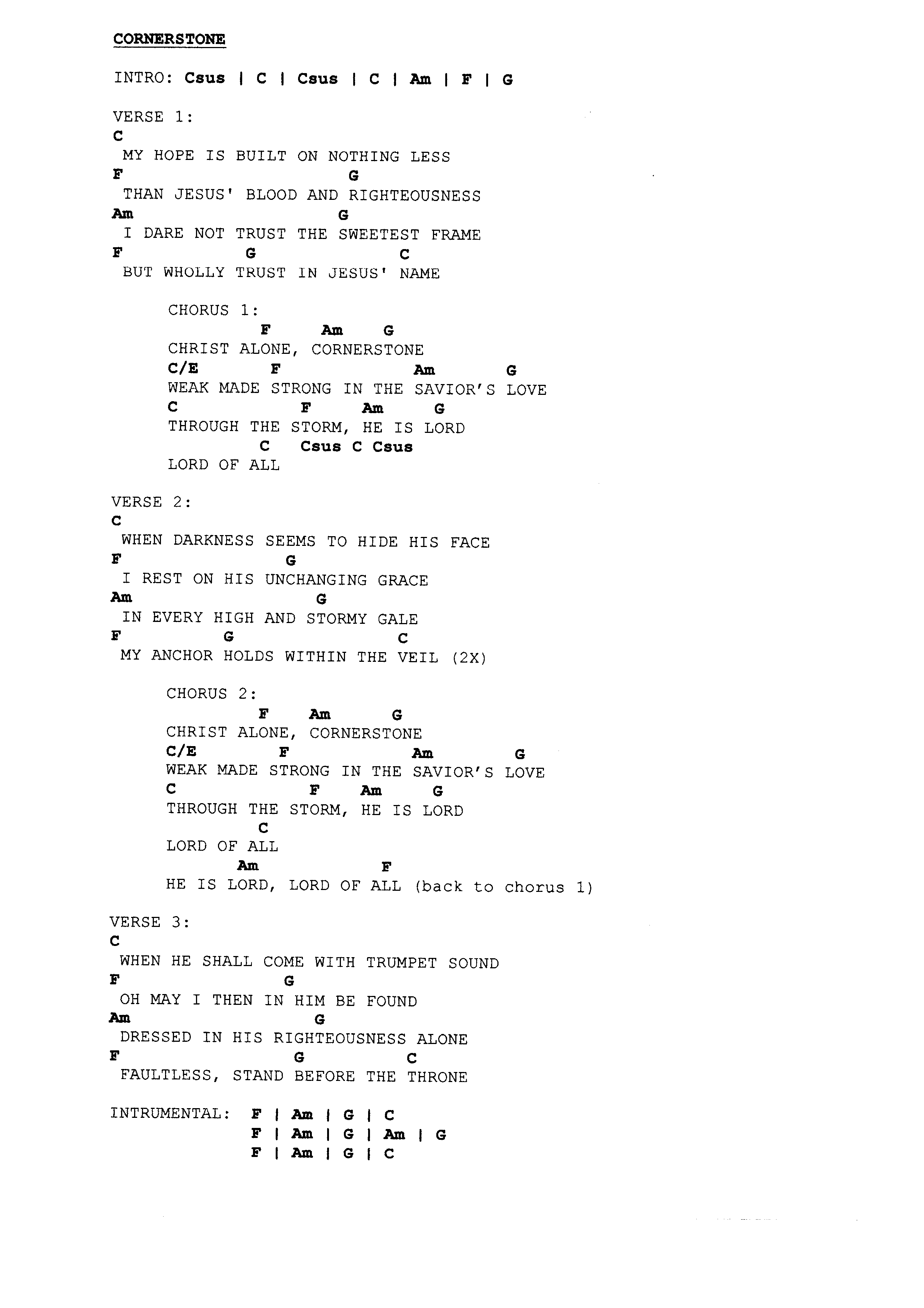 In Christ Alone Chords Praise Worship Chords Page 7 The Idiot In Me