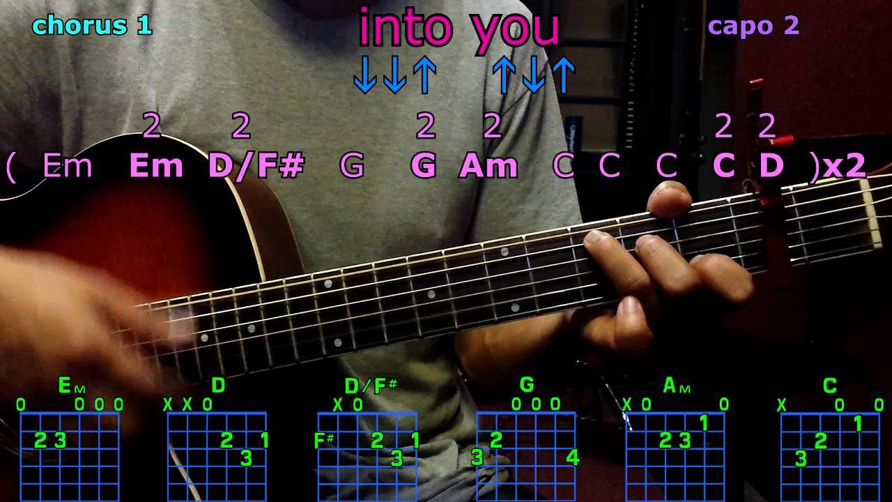 Into You Chords Into You Ariana Grande Guitar Chords