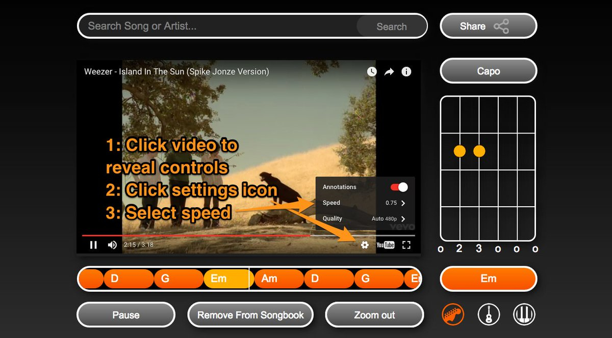 Island In The Sun Chords Riffstation On Twitter Did You Know You Can Slow Down The Chords