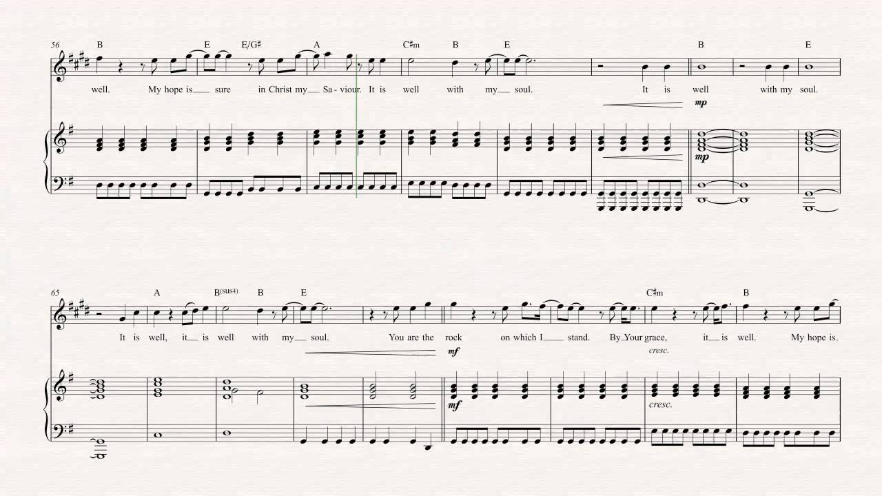 It Is Well Chords Bari Sax It Is Well With My Soul Hillsong United Sheet Music Chords Vocals