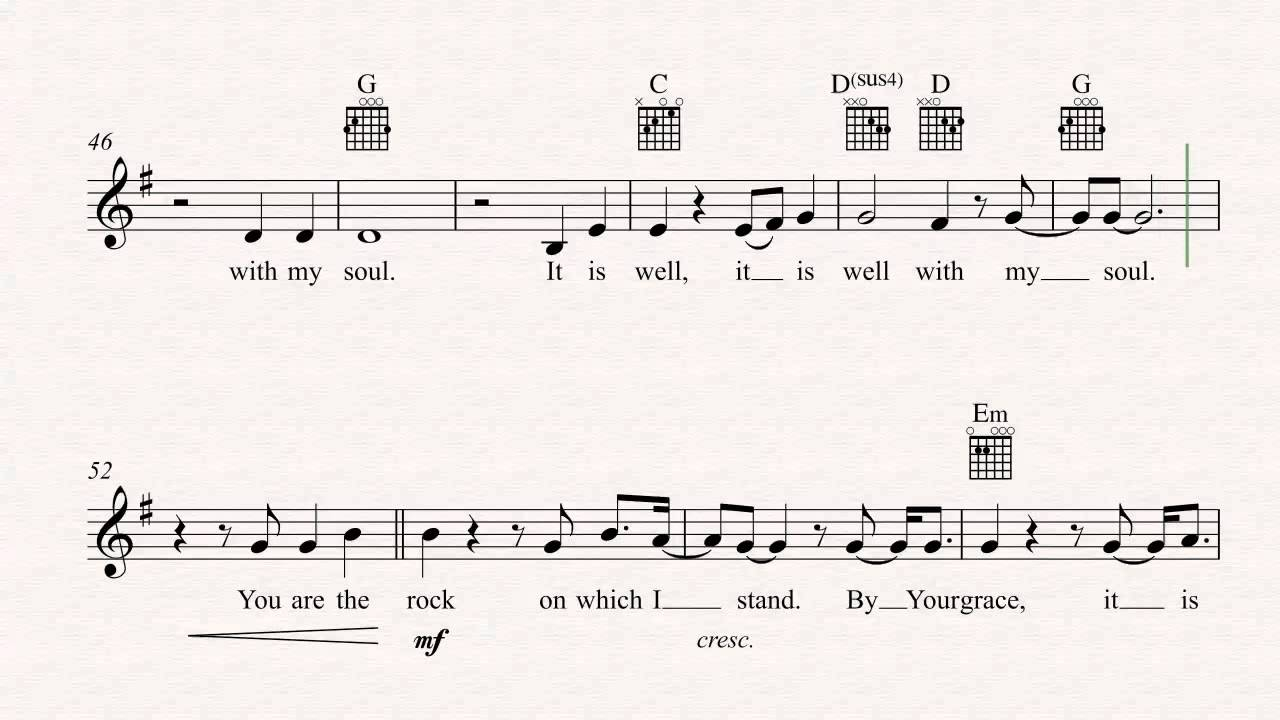 It Is Well Chords Guitar It Is Well With My Soul Hillsong United Sheet Music Chords Vocals