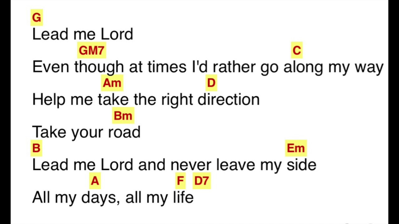 Lead Me To The Cross Chords Lead Me Lord Gary V Chords Lyrics Praise And Worship Songs