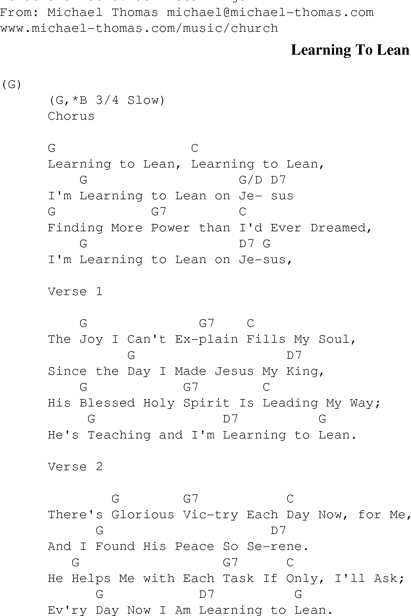 Lean On Me Chords Gospel Songs With Chords Learning To Lean Christian Gospel Song