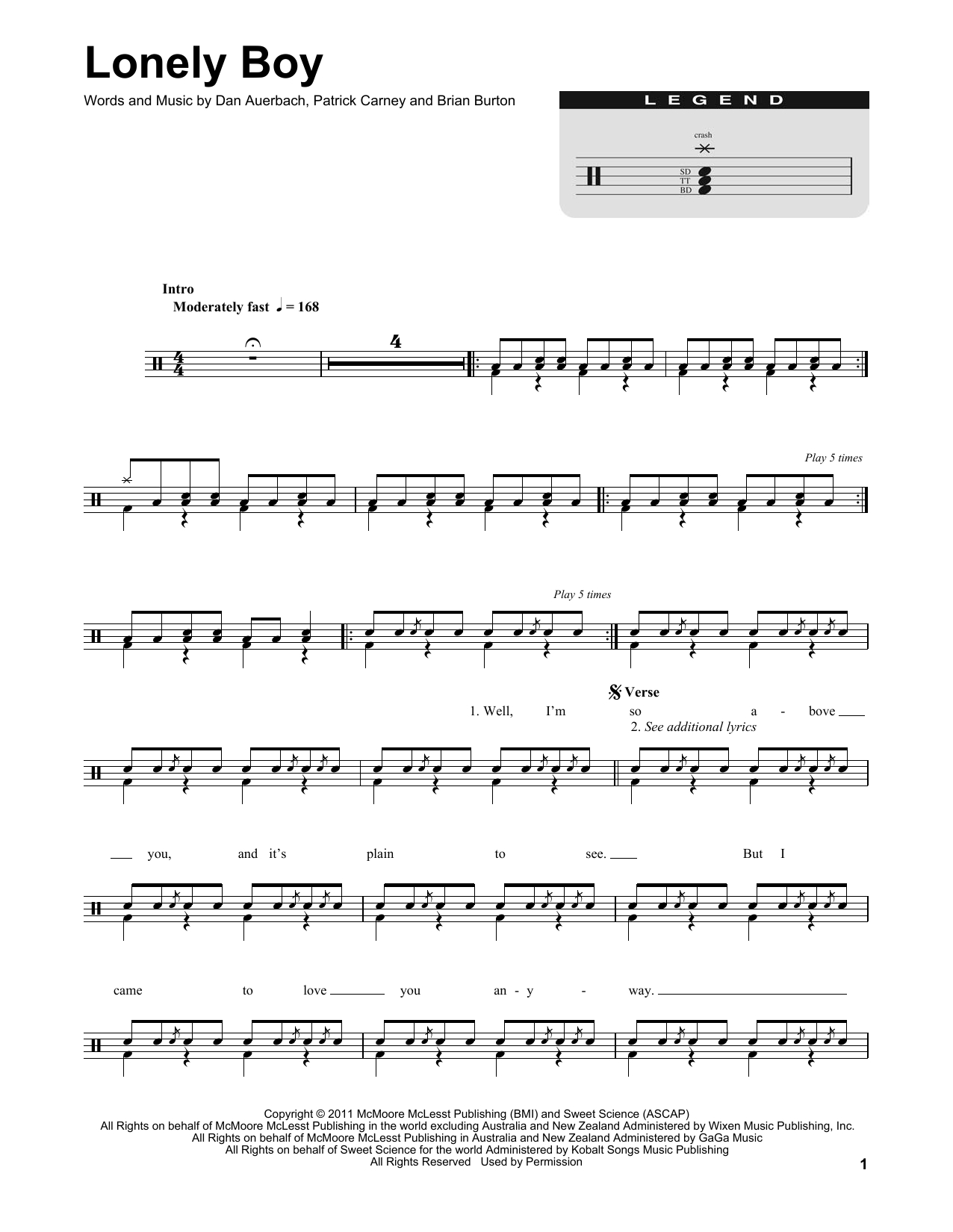 Little Black Submarines Chords Sheet Music Digital Files To Print Licensed The Black Keys Digital