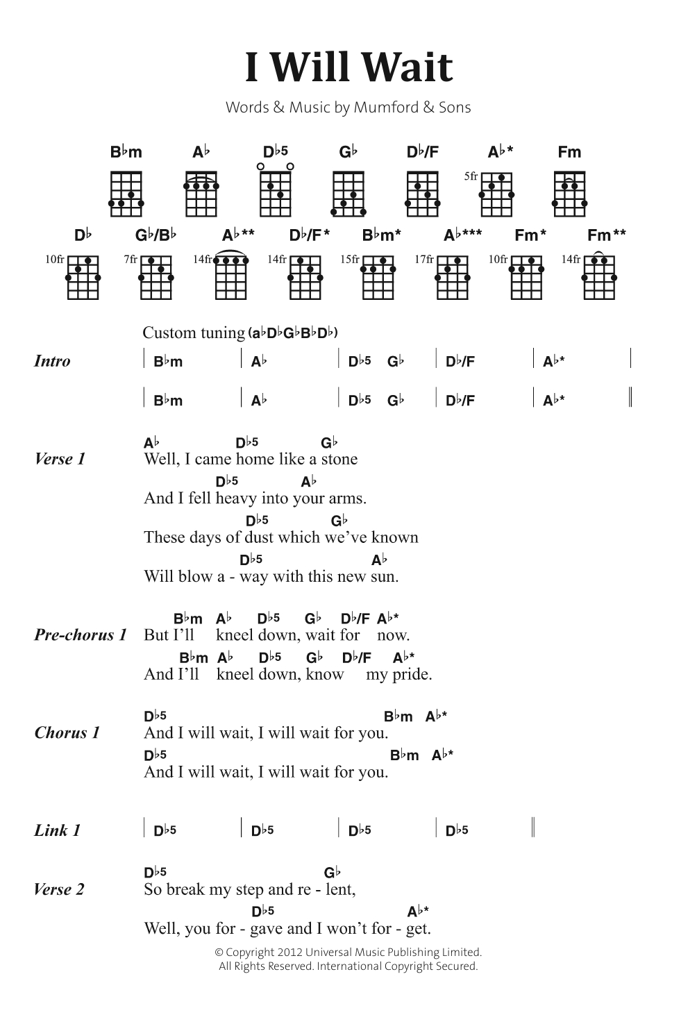 Little Lion Man Chords Sheet Music Digital Files To Print Licensed Marcus Mumford Digital