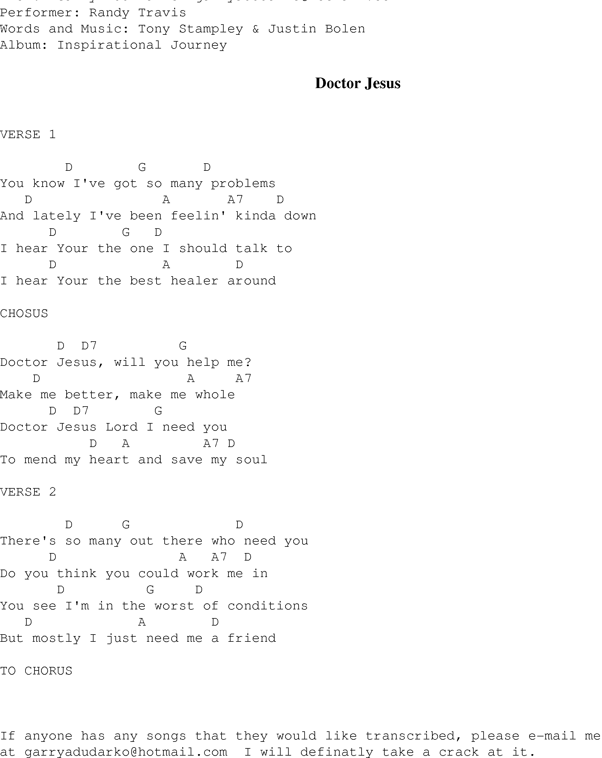 Lord I Need You Chords Doctor Jesus Christian Gospel Song Lyrics And Chords