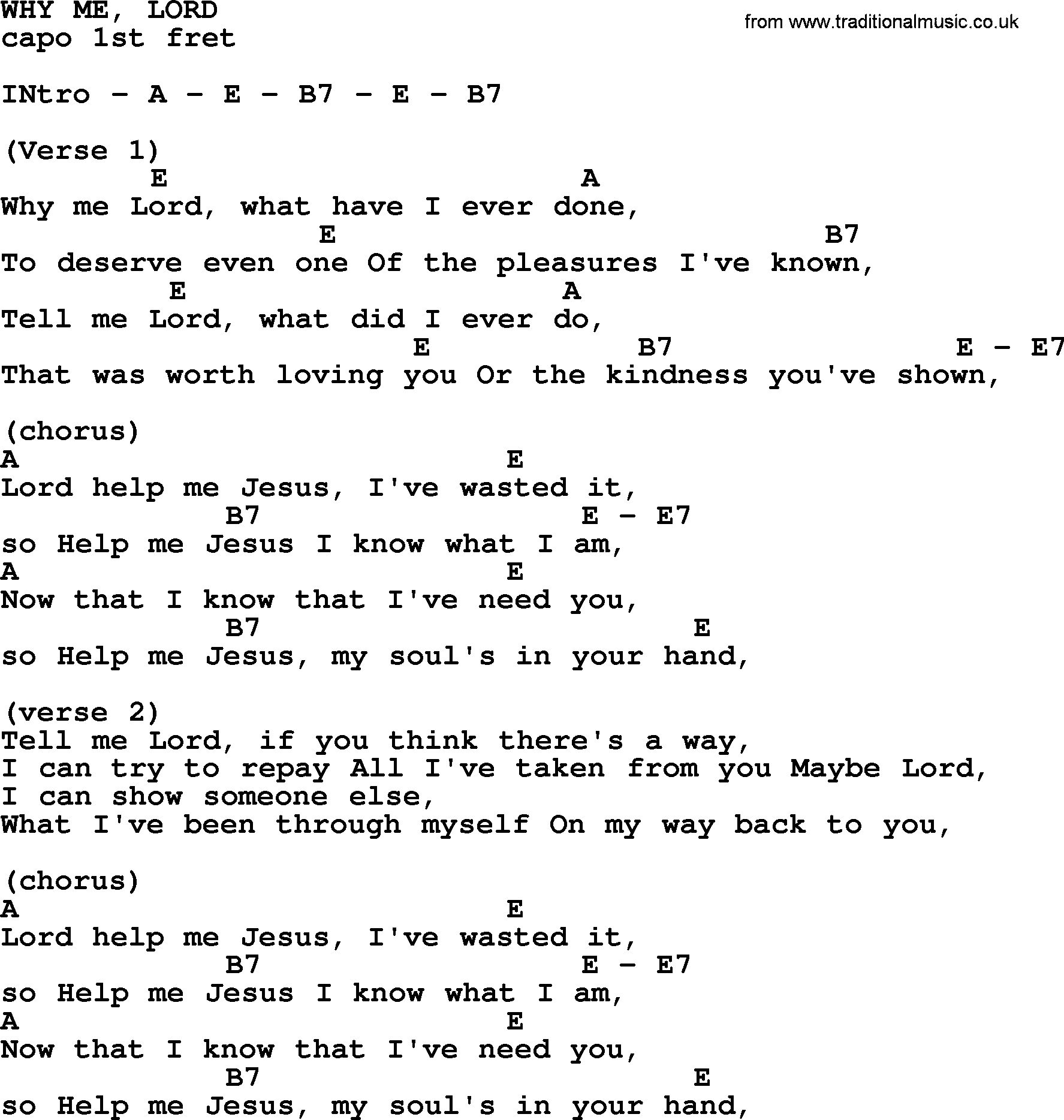 Lord I Need You Chords Johnny Cash Song Why Me Lord Lyrics And Chords