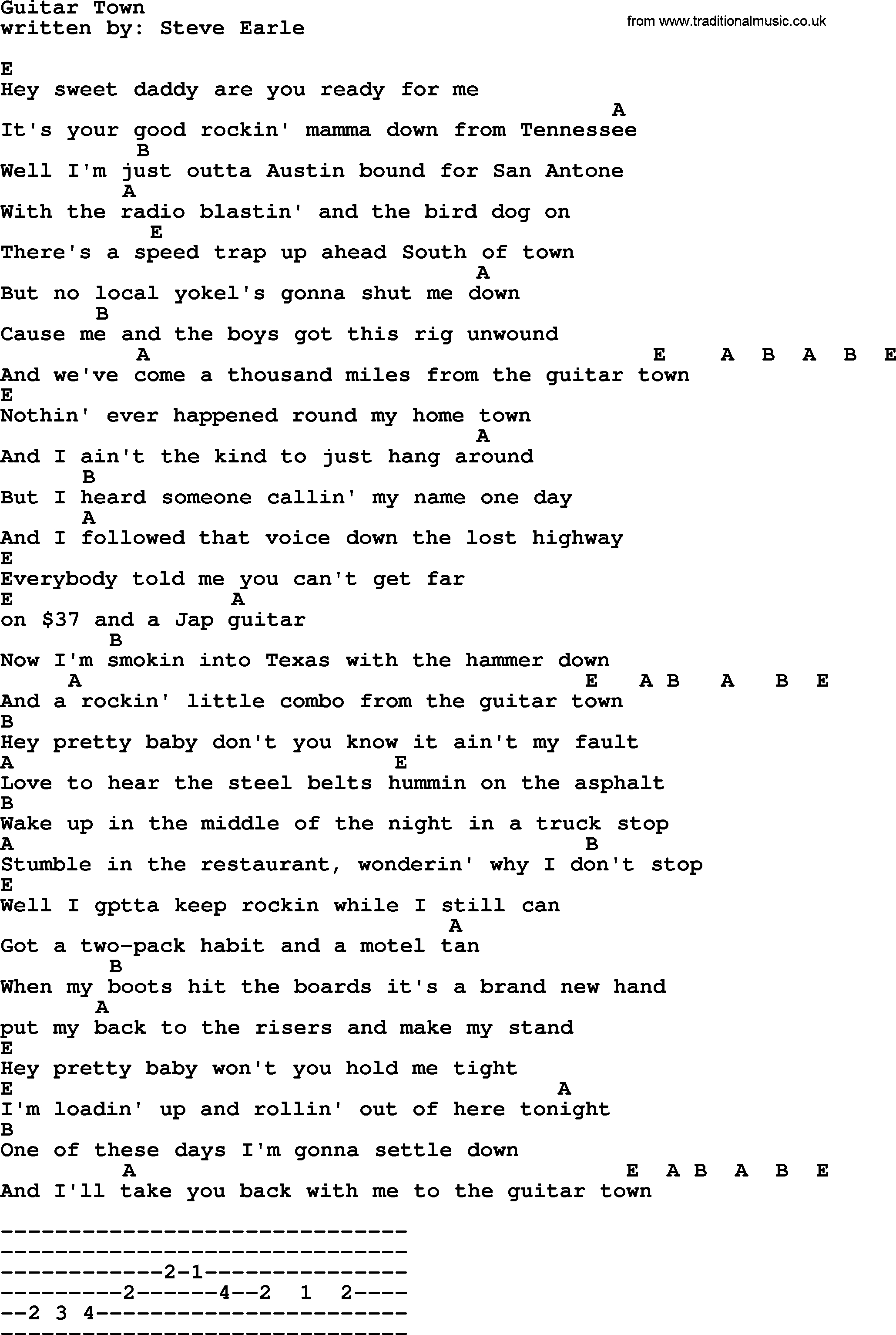 Lost Boy Chords Emmylou Harris Song Guitar Town Lyrics And Chords