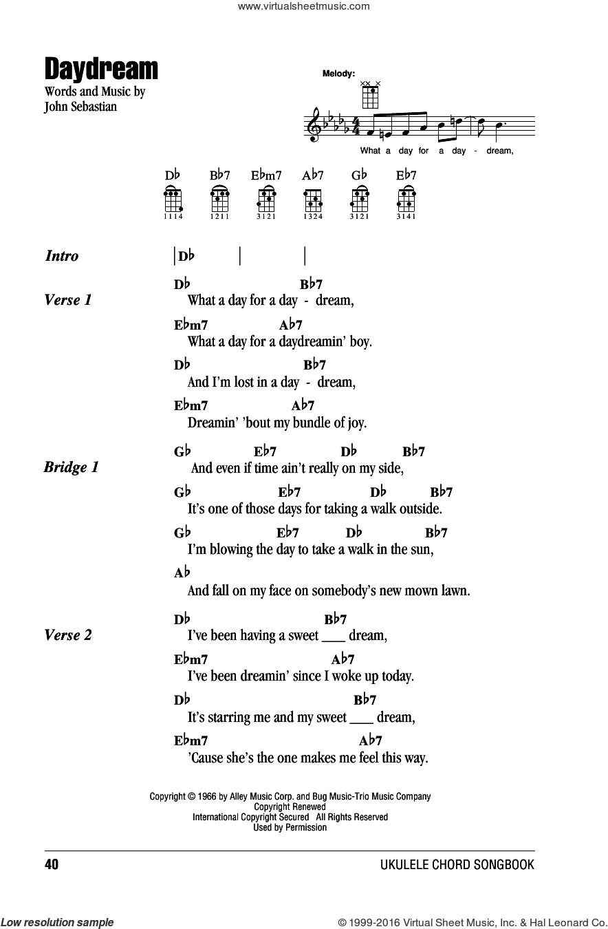 Lost Boy Chords Spoonful Daydream Sheet Music For Ukulele Chords Pdf