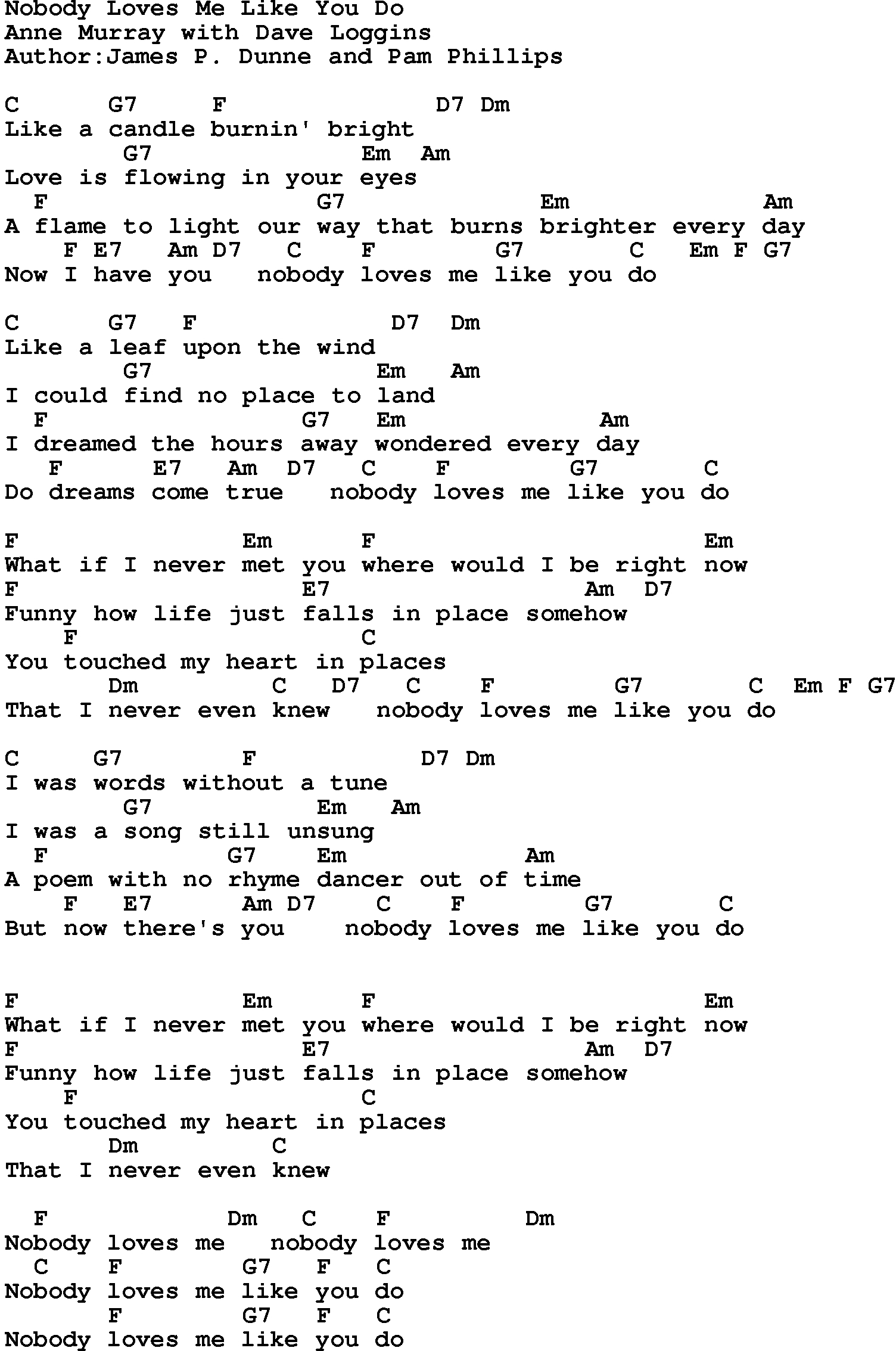 Love Me Like You Do Chords Country Musicnobody Loves Me Like You Do Lyrics And Chords