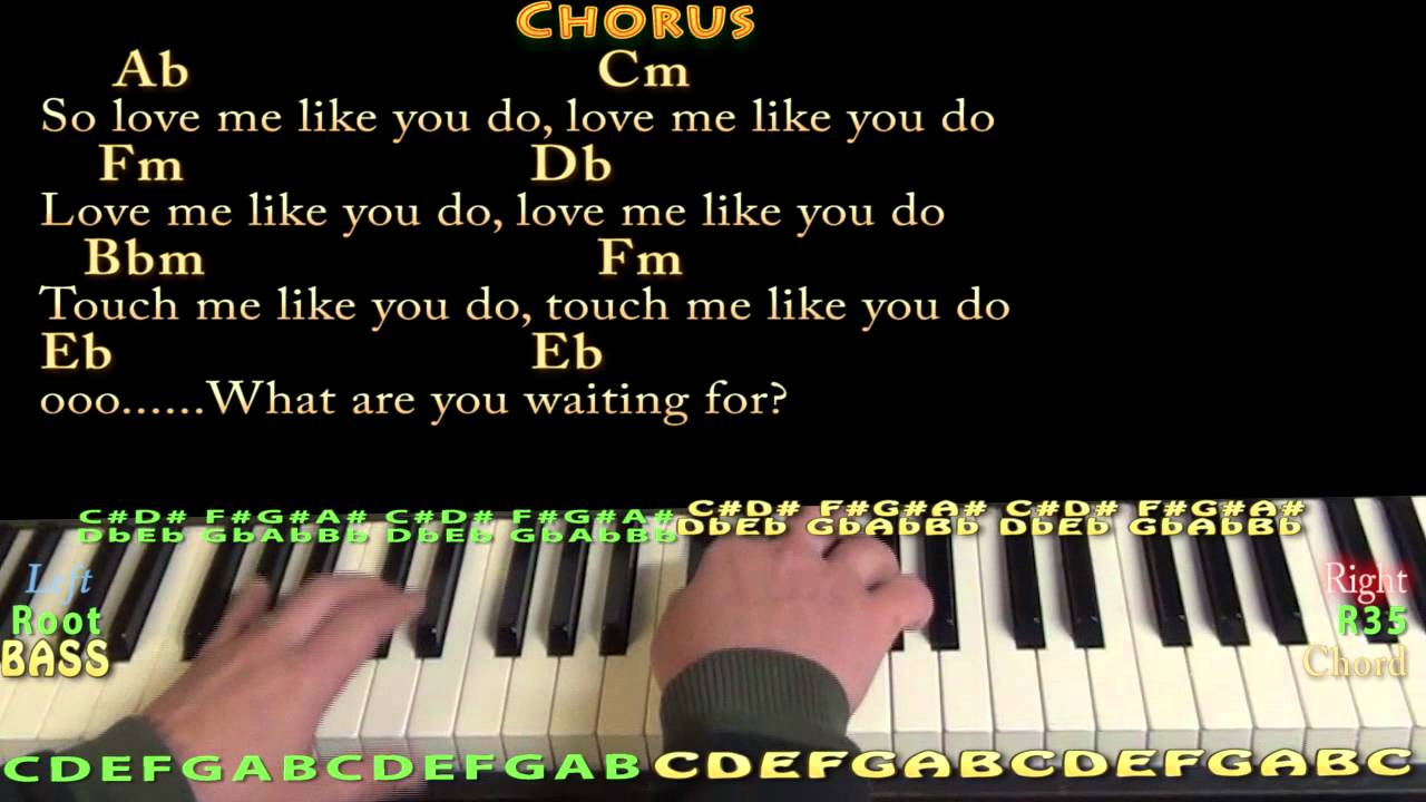 Love Me Like You Do Chords Love Me Like You Do Piano Cover Lesson In Ab With Chordslyrics