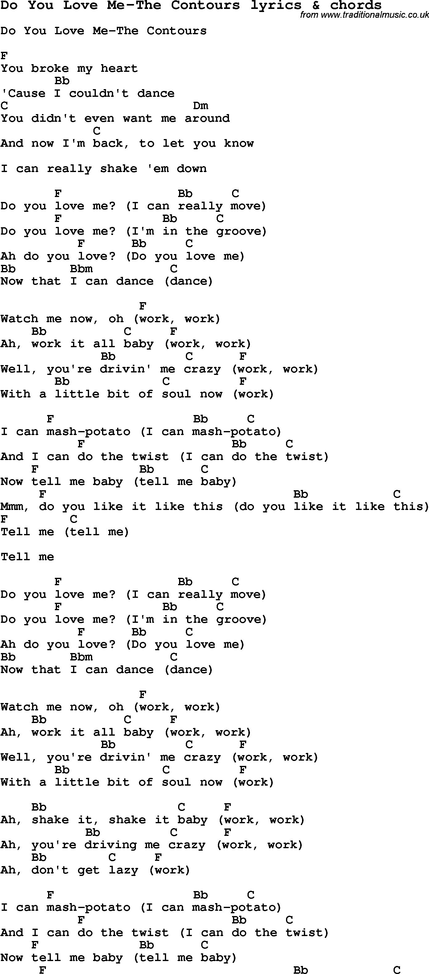 Love Me Like You Do Chords Love Song Lyrics Fordo You Love Me The Contours With Chords