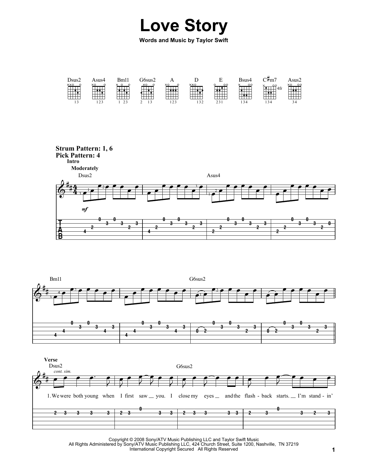 Love Story Chords Taylor Swift Love Story Sheet Music Notes Chords Download Printable Easy Guitar Tab Sku 71324