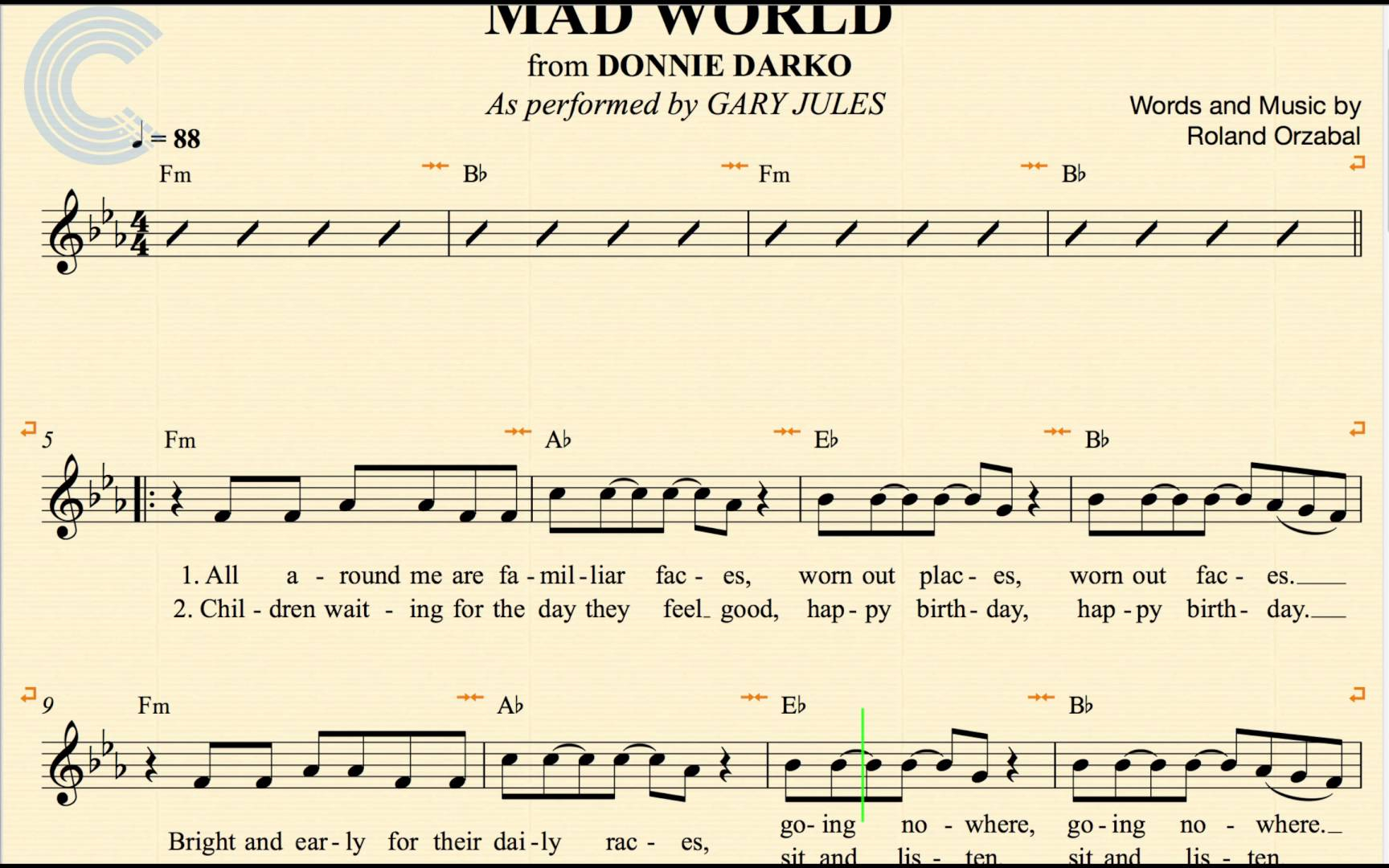 Mad World Chords Mad World Place And Landscape
