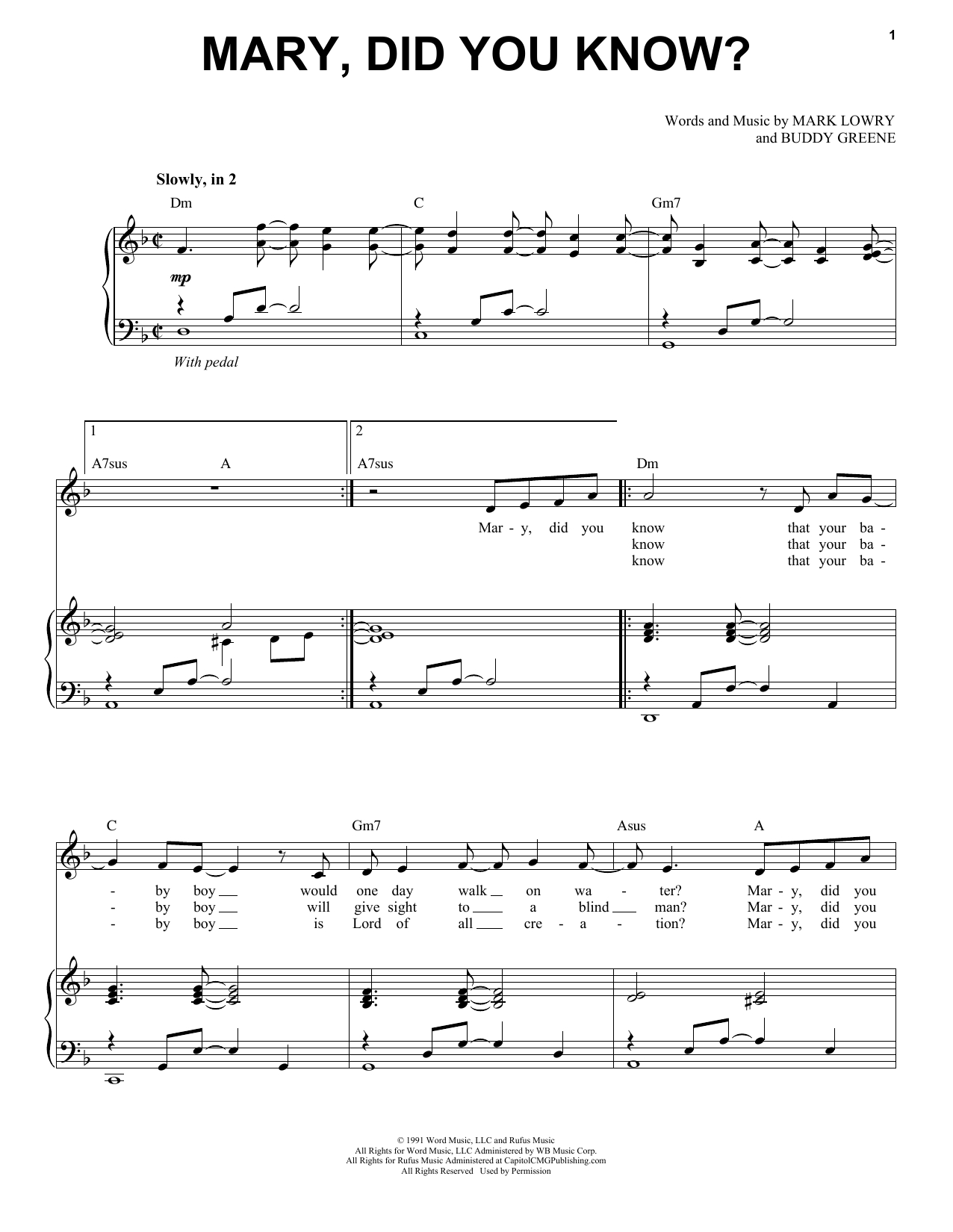 Mary Did You Know Chords Mark Lowry Mary Did You Know Sheet Music Notes Chords Download Printable Piano Vocal Sku 405531
