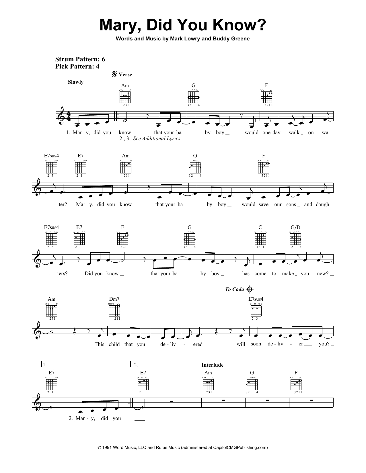 Mary Did You Know Chords Sheet Music Digital Files To Print Licensed Kathy Mattea Digital