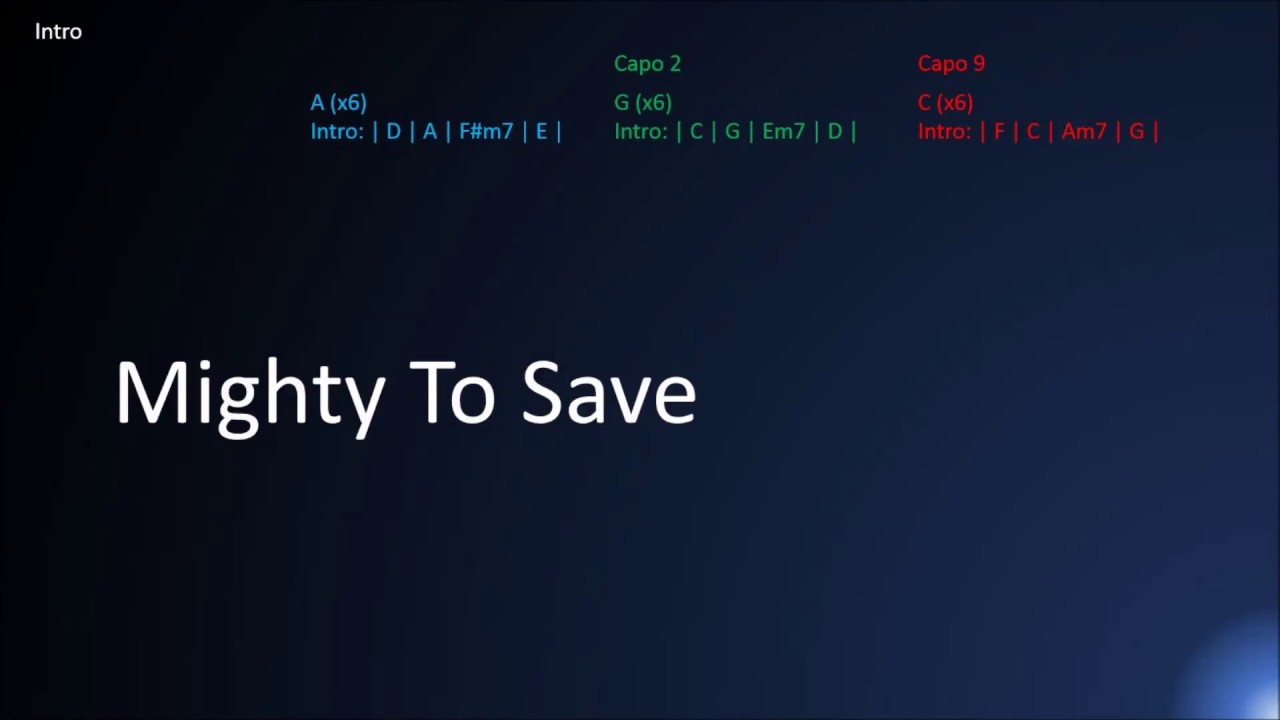 Mighty To Save Chords Mighty To Save Hillsong Lyrics And Chords