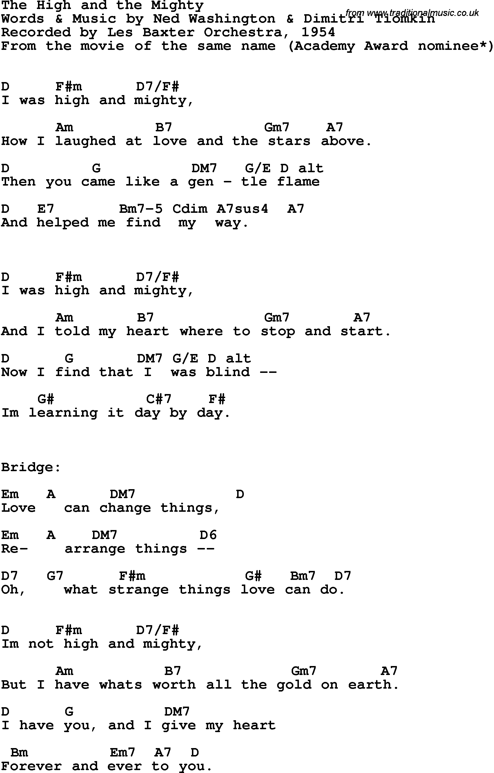 Mighty To Save Chords Song Lyrics With Guitar Chords For High And The Mighty The Les