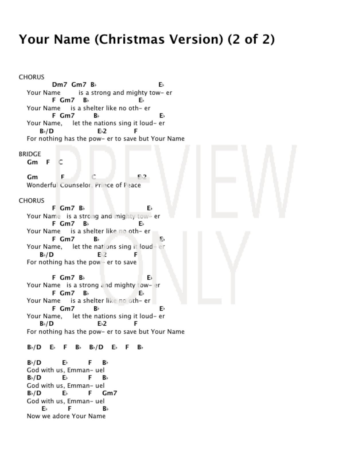 Mighty To Save Chords Your Name Christmas Version Live Lead Sheet Lyrics Chords