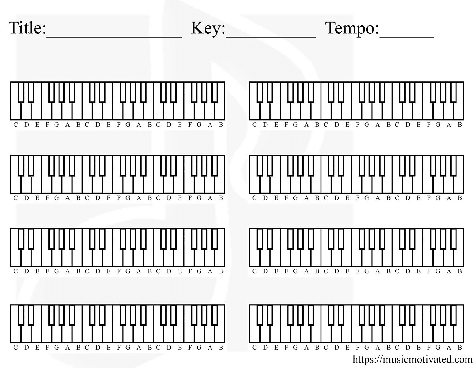 Piano Chord Chart Printable Piano Chords For Beginners Piano Chord Chart With Pictures