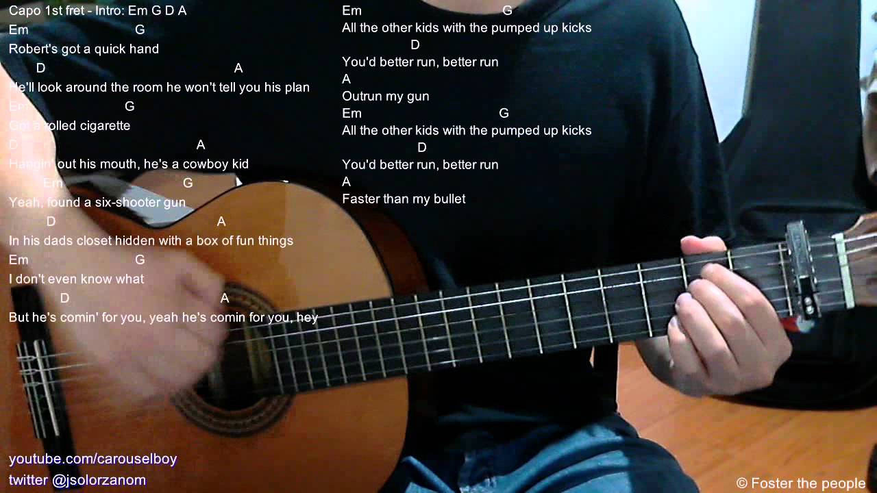 Pumped Up Kicks Chords Pumped Up Kicks Acoustic Guitar Chords