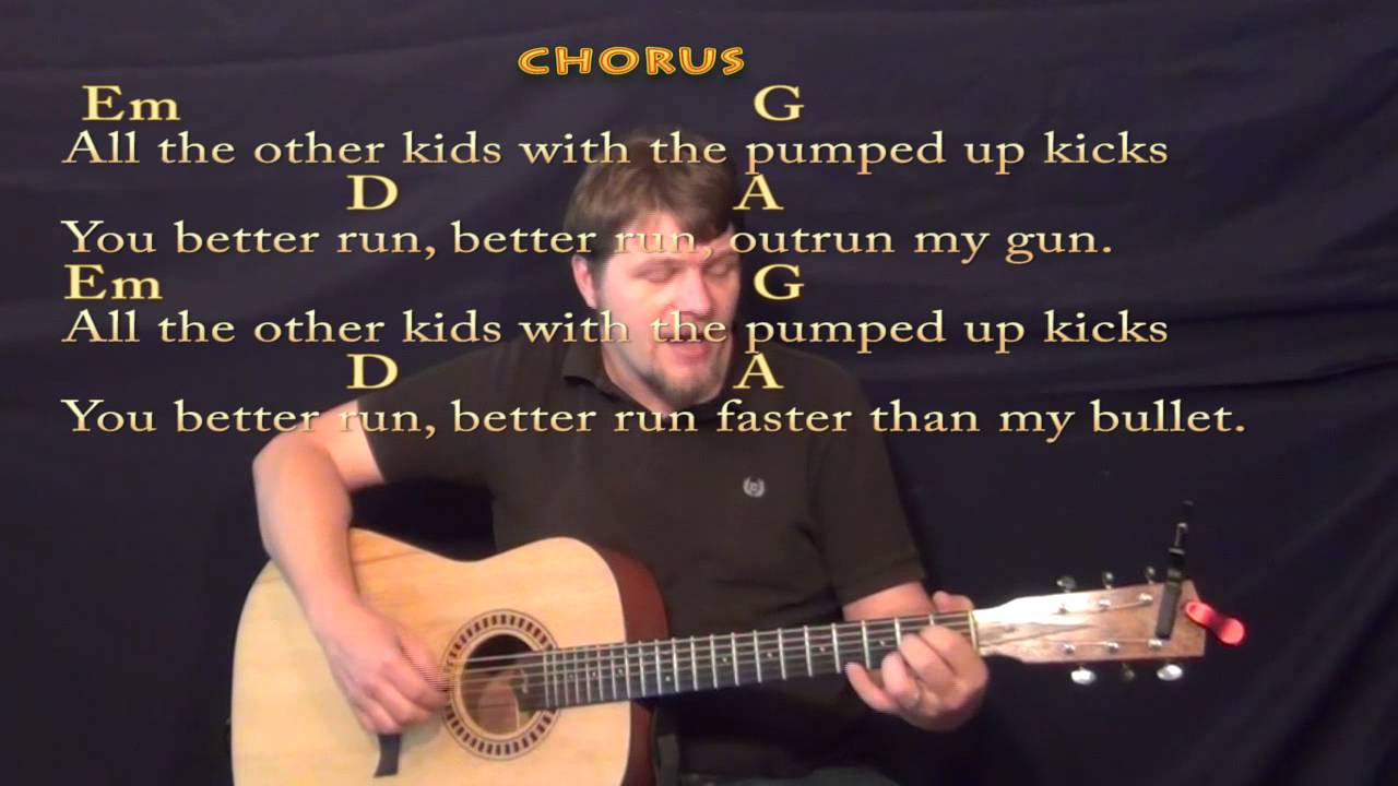 Pumped Up Kicks Chords Pumped Up Kicks Fingerstyle Guitar Cover Lesson With Chordslyrics
