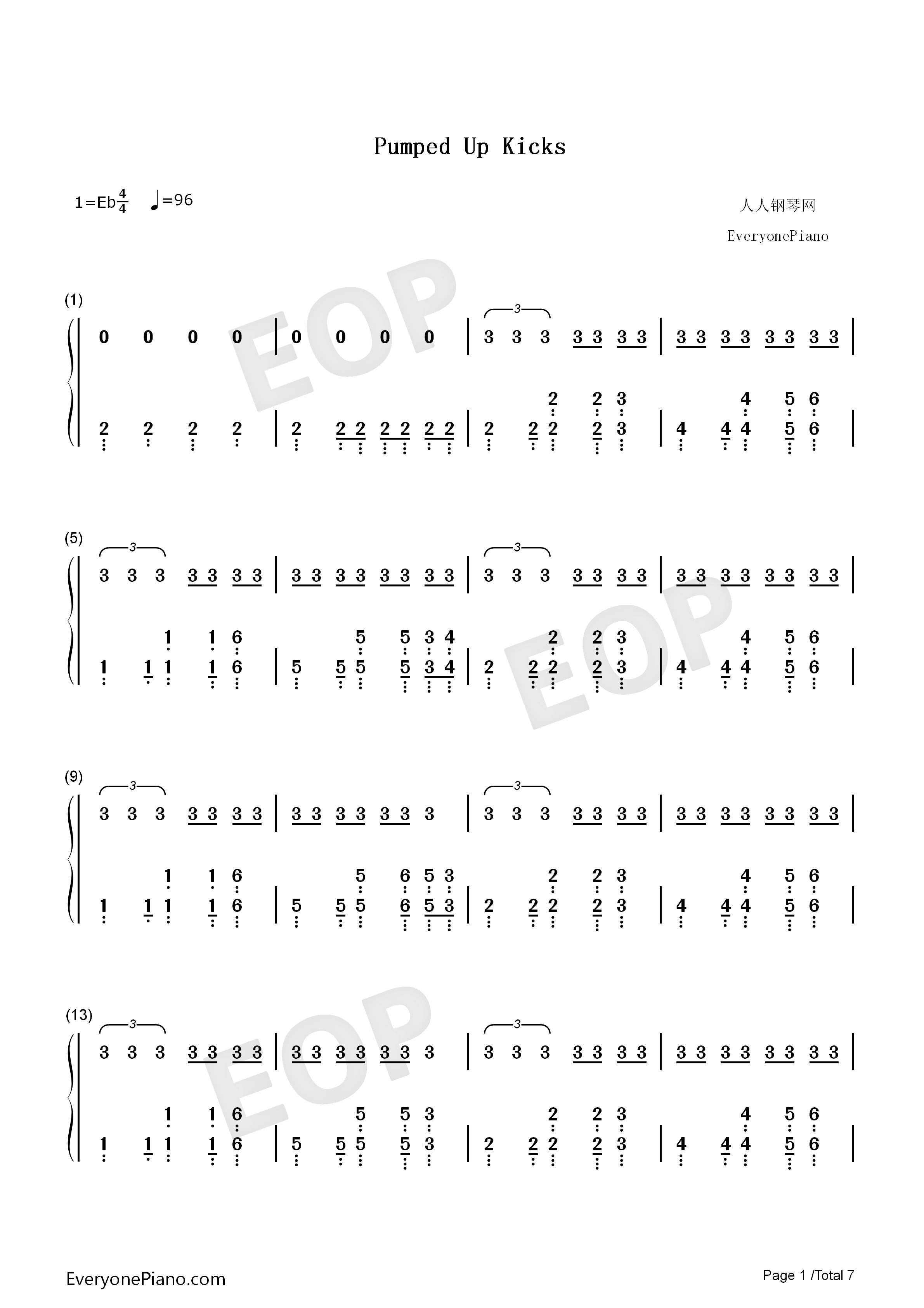 Pumped Up Kicks Chords Pumped Up Kicks Foster The People Free Piano Sheet Music Piano Chords