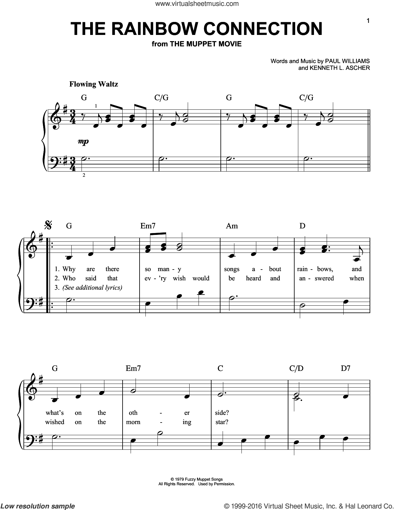 Rainbow Connection Chords Frog The Rainbow Connection Sheet Music For Piano Solo Pdf
