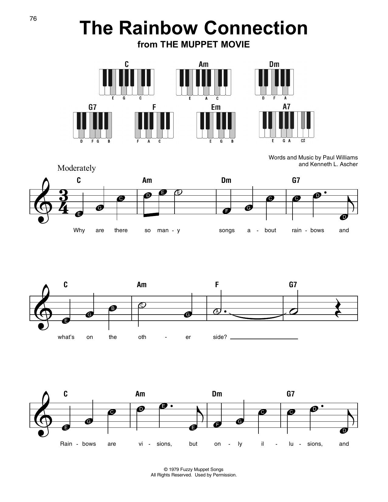 Rainbow Connection Chords The Rainbow Connection Paul Williams Real Book Melody Lyrics Chords C Instruments Digital Sheet Music