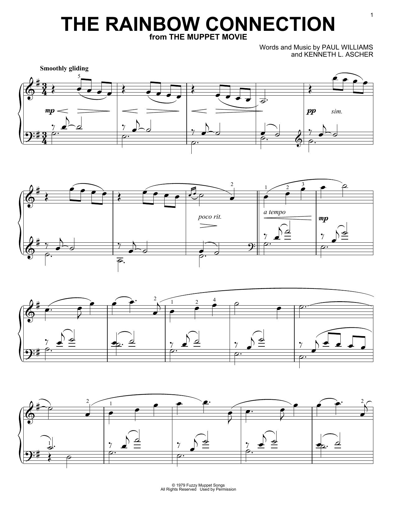 Rainbow Connection Chords The Rainbow Connection Piano Solo Print Sheet Music Now