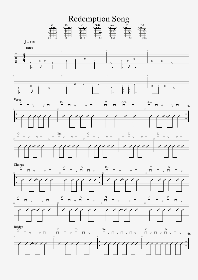 Redemption Song Chords Bob Marley Redemption Song Guitar Lesson 1080p Tabs