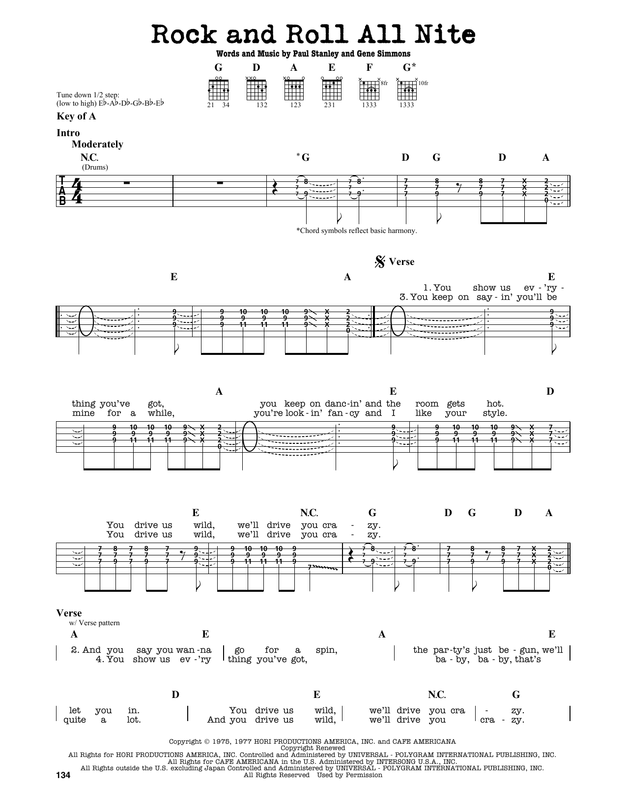 Revelation Song Chords Rock And Roll All Nite Kiss Piano Vocal Guitar Right Hand Melody Digital Sheet Music