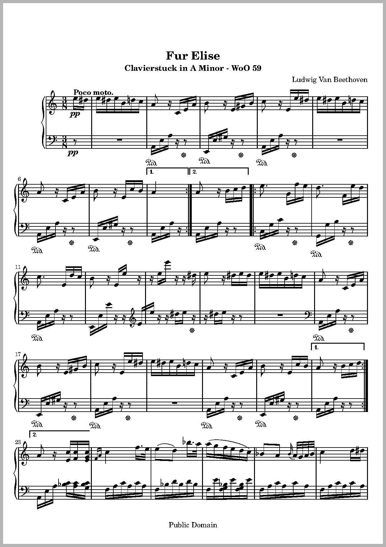 Ring Of Fire Chords Ring Of Fire Chords 459385 File Imslp Fur Elise Beethoven Woo59 Pdf