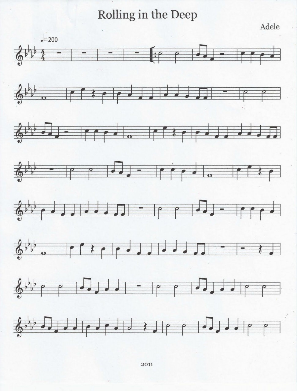 Rolling In The Deep Chords John Mayer Songs Chords Flute Tenor Sax Sheet Music Rolling In The