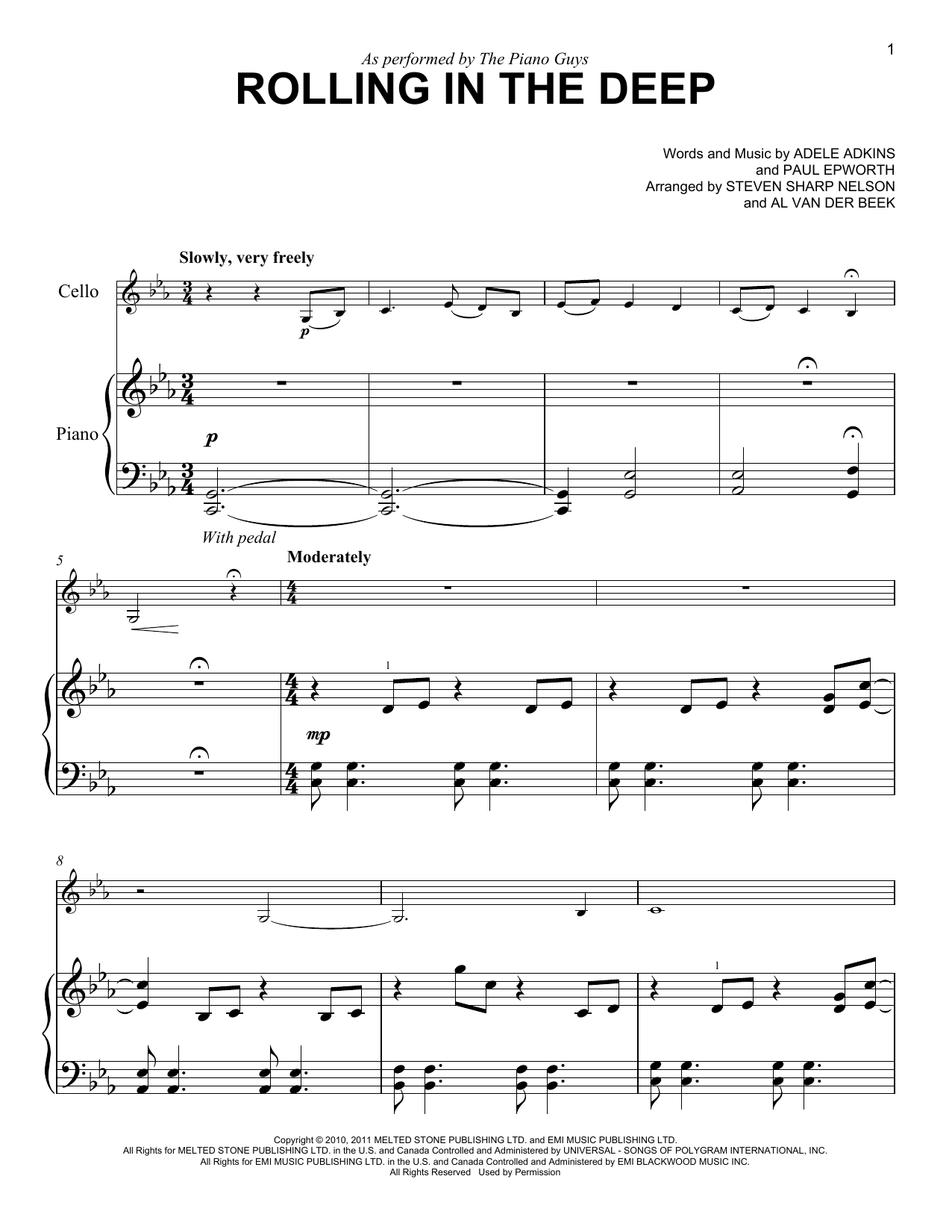 Rolling In The Deep Chords The Piano Guys Rolling In The Deep Sheet Music Notes Chords Download Printable Easy Piano Sku 254194