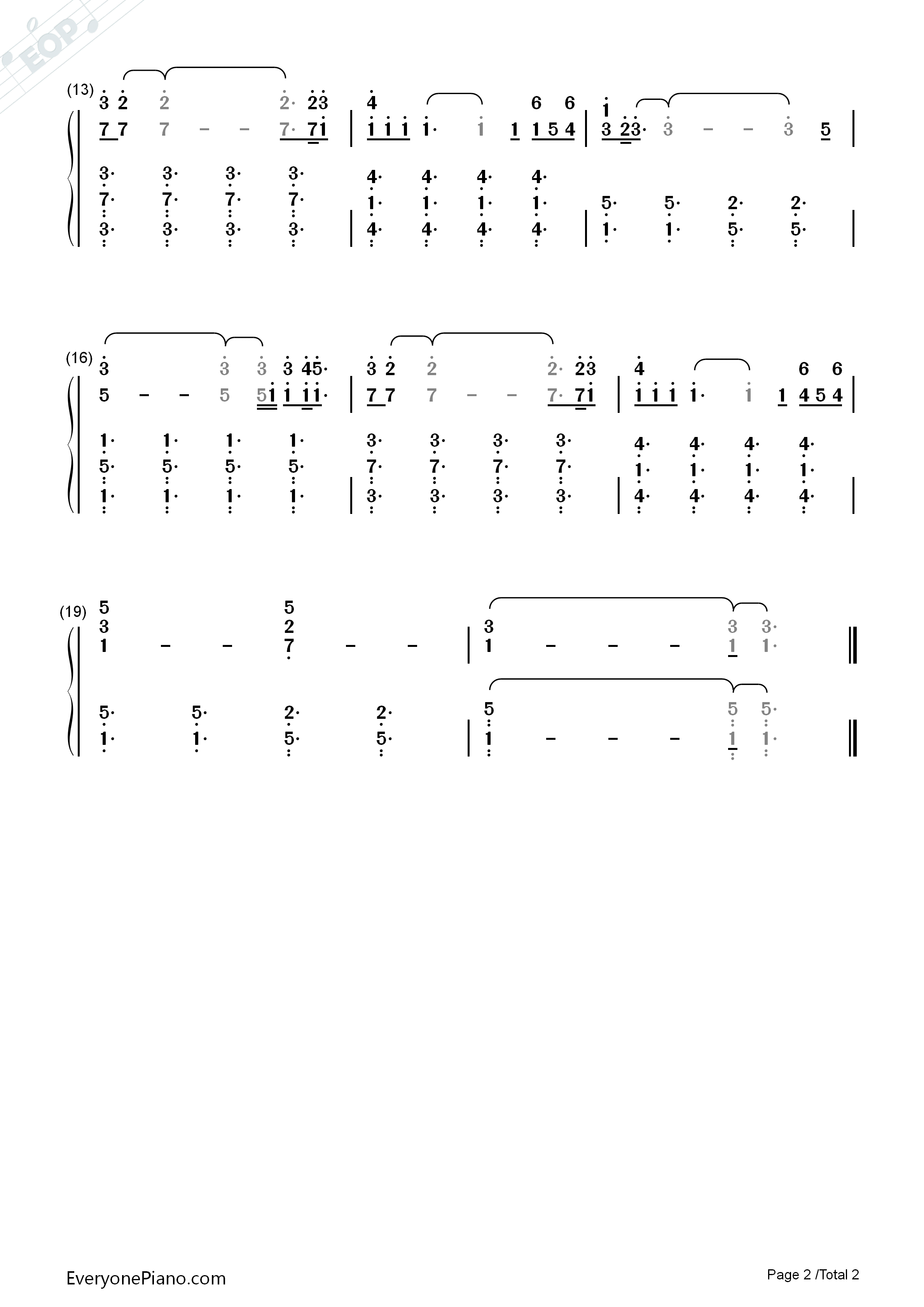Say Something Piano Chords Say Something Numbered Musical Notation Preview 2 Free Piano Sheet